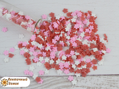 Наполнитель для аквабантиков красно-бело-розовые цветочки № 2