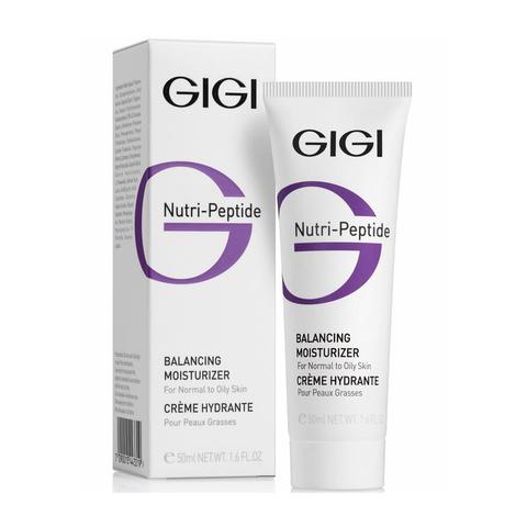 Пептидный увлажняющий балансирующий крем для жирной кожи Creme Hydratante Balancing moisturizer for normal and oily skin, Gigi, 50 мл