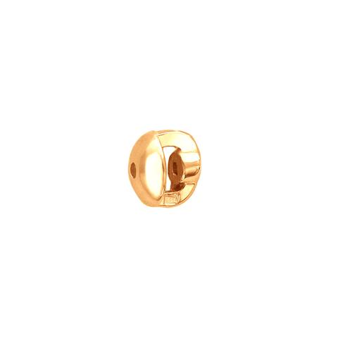Застежка завинчивающаяся для пусет и гвоздиков из золота 585 пробы