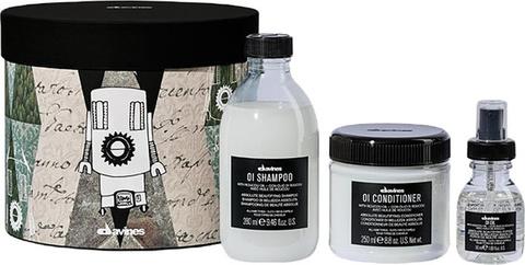 Набор OI (Шампунь для абсолютной красоты волос - OI/Shampoo 90 ml; Кондиционер для абсолютной красоты волос - OI/Conditioner 75 ml; Масло для абсолютной красоты волос - OI/Oil, absolute beautifying potion 50 ml )