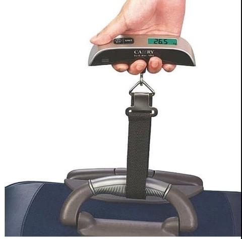 Весы портативные для багажа, Кантер кухонный, Электронные весы 0-50 кг.