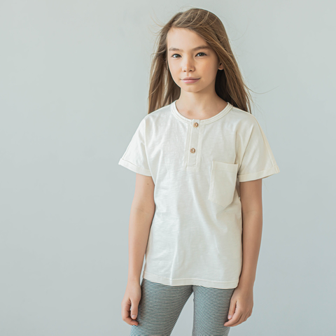 Polo T-shirt for teens - Heavy Сream