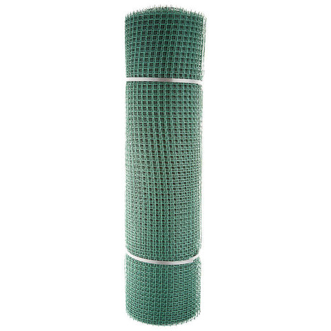 Купить пластиковую сетку садовую Зеленый луг бюджет  15x15мм, 1x20м в Москве, Домодедово, Обнинске, Калуге недорого