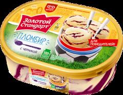 """Мороженое """"Золотой стандарт"""" пломбир с черникой 475г контейнер"""