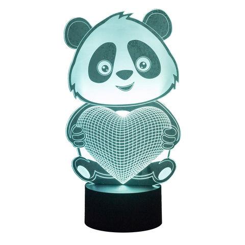 Ночник Панда с сердцем