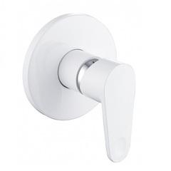 Смеситель встраиваемый на 1 потребителя со встраиваемой частью KorDi White Calcium KD S609P-D70 White фото