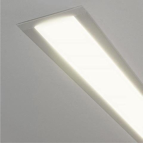 Линейный светодиодный встраиваемый светильник 103см 20Вт 4200К матовое серебро 100-300-103