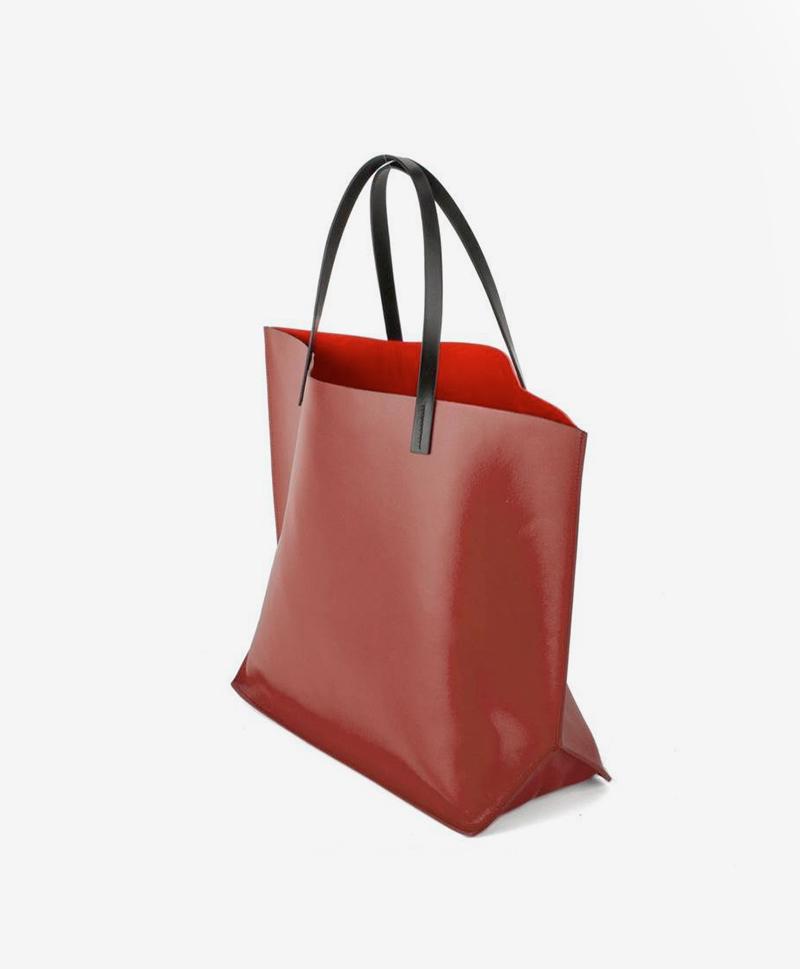 Сумка-шоппер бордового цвета