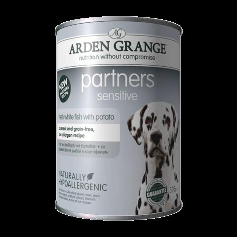 Arden Grange Partners Sensitive Консервы для собак Рыба и Картофель