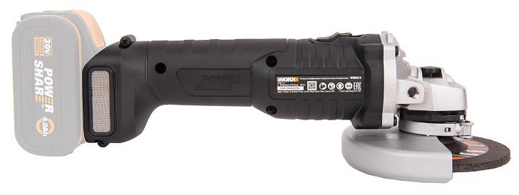 Угловая шлифмашина аккумуляторная WORX WX812.9, 125мм, 20В, бесщеточная без АКБ и ЗУ
