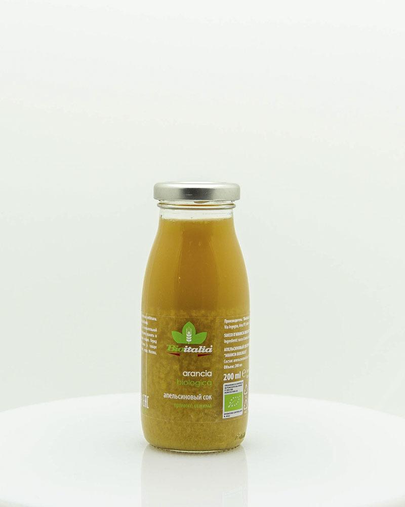 Апельсиновый сок Bioitalia 200 мл.
