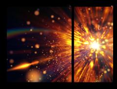 """Модульная картина """"Космический взрыв"""""""