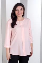 Ліза. Стильна блуза великих розмірів. Пудра