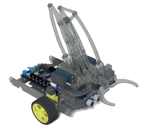 Робототехнический комплект для изучения основ электроники, информационных и сенсорных систем роботов