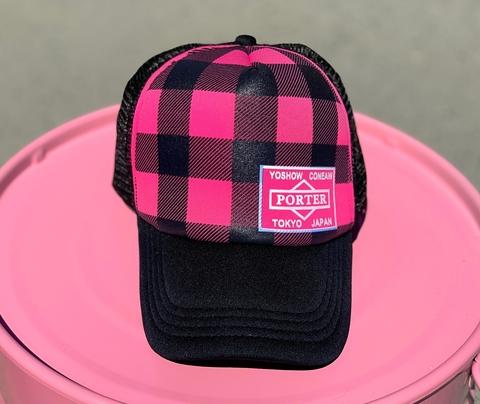 Бейсболка с сеткой PORTER, чёрный с розовым