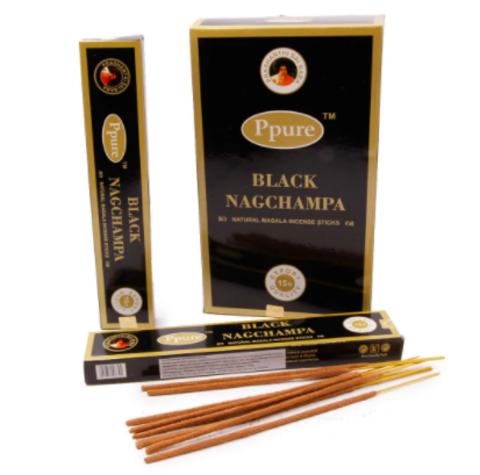 Индийские палочки Ppure Black NagChampa