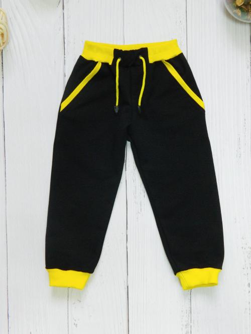 Брюки 3123, черно-желтые