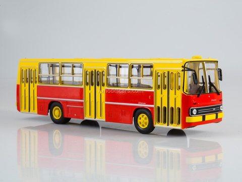 Ikarus 260 yellow-red Soviet Bus (SOVA) 1:43