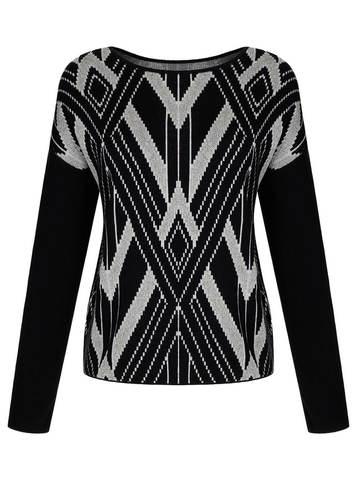 Женский джемпер черного цвета из шелка и кашемира - фото 1