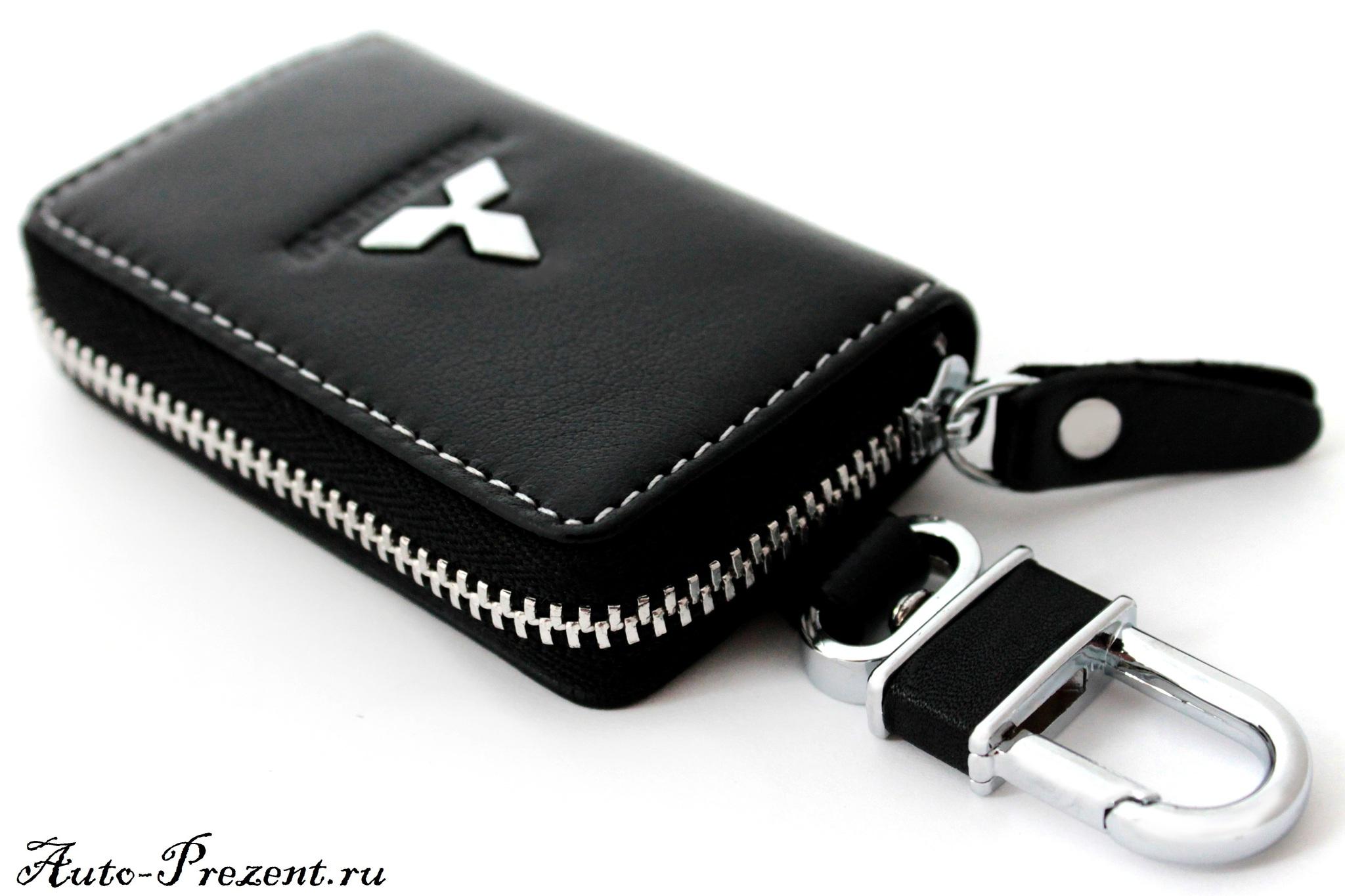 Кожаный чехол для ключа с логотипом MITSUBISHI
