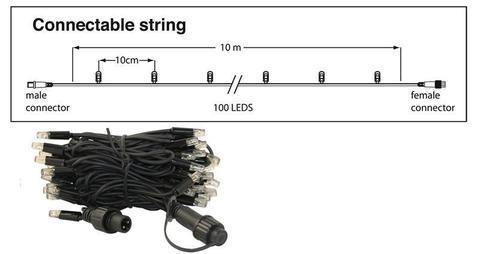 Уличные профессиональные гирлянды на пвх проводе 10 м led string