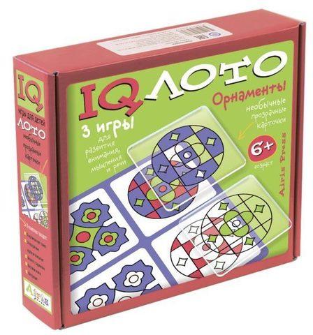 IQ лото Орнаменты (комплект из 3 игр), Айрис Пресс