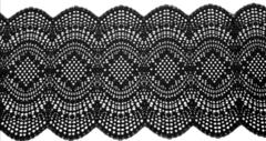Эластичное кружево, ОПТ, черный, 21см (Артикул: EK-1064), м