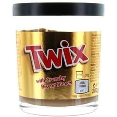 Шоколадная паста Twix With Crunchy Biscuit Pieces 200 гр