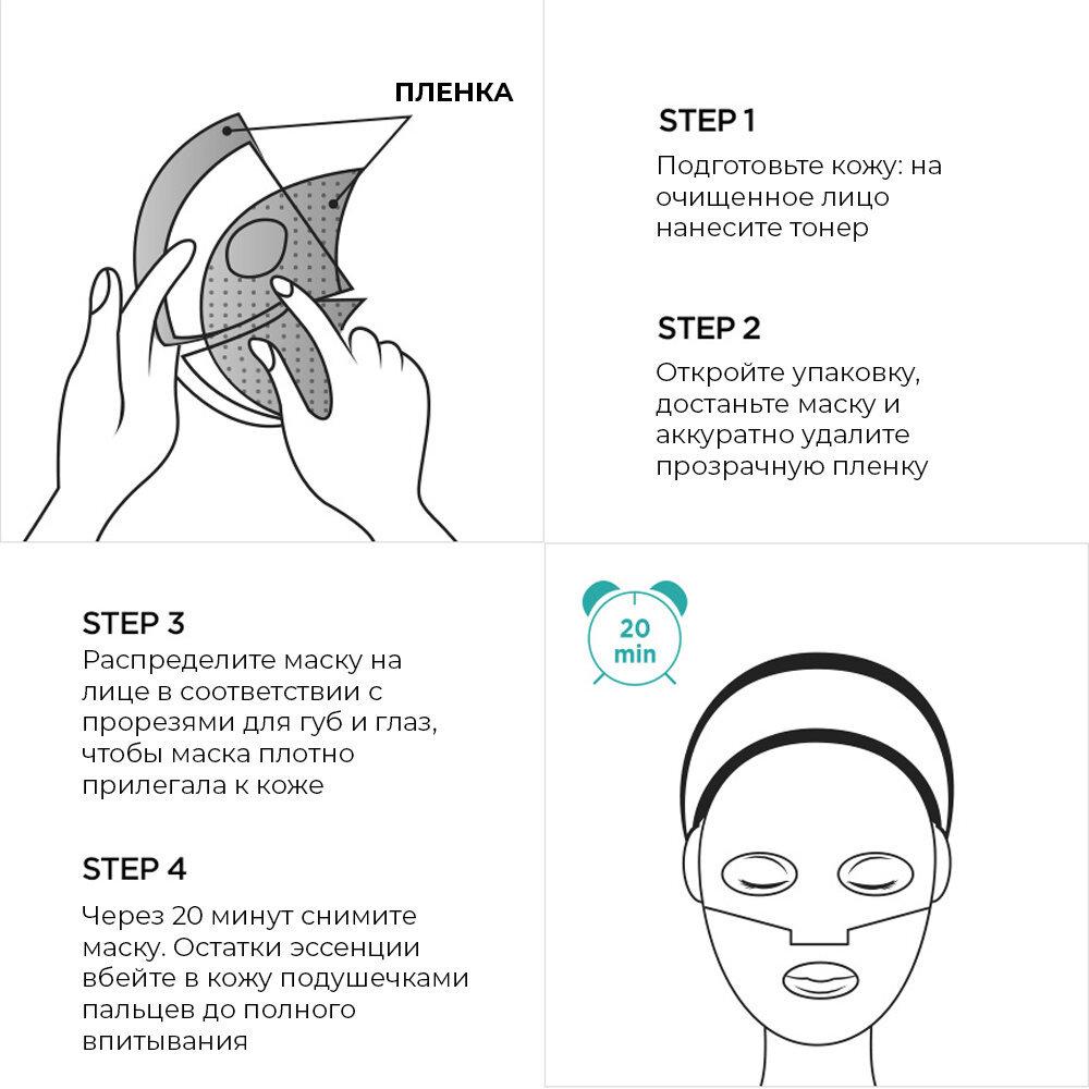 Набор из 10 гидрогелевых масок премиум-класса для упругой и сияющей кожи HONEY LUMINOUS ROYAL PROPOLIS HYDROGEL MASK BLACK
