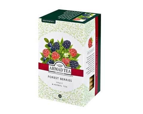 Чай травяной в пакетиках из фольги Ahmad Tea с лесными ягодами (Форест берриз), 20 пак/уп