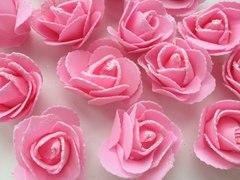 Роза из фоамирана с блестками 5-6 см, 1 шт.