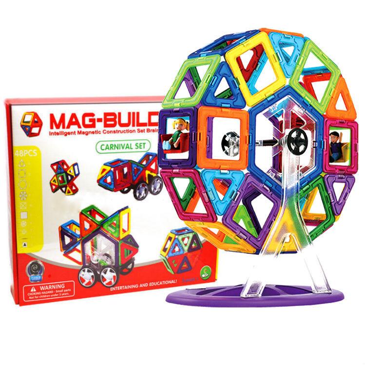 Детские конструкторы Детский магнитный конструктор Mag Building (48 деталей) 7d85a6b7c2541a1b3778907f46cf2a44.jpg
