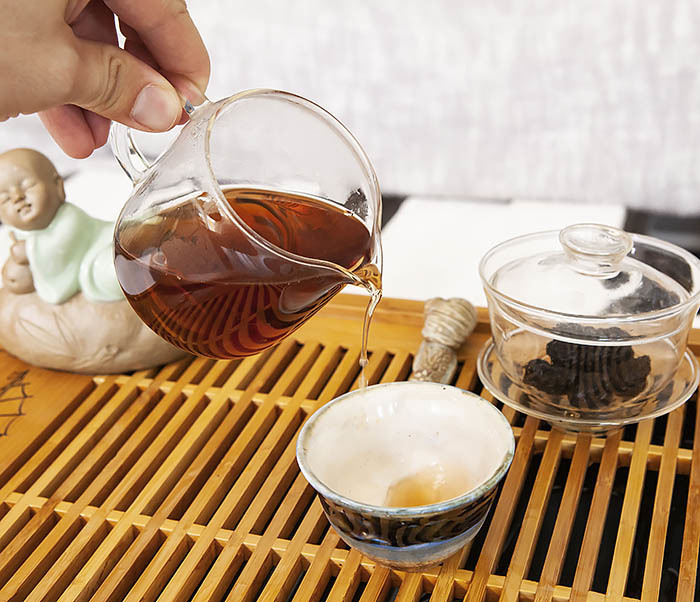 TEA-CH118 Китайский чай шу пуэр «Старые Чайные Головы» (Лао Ча Тоу, крупная фракция, 50 гр) фото 09