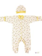 ФЭСТ, Hunny Mammy. Комплект детский стерильный, в роддом, молочный/коричневый/желтый вид 1