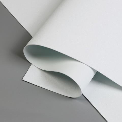 Фоамиран глиттерный 20х30х2 мм белый