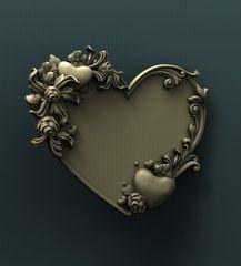 Силиконовый молд № 338 рамка Сердце