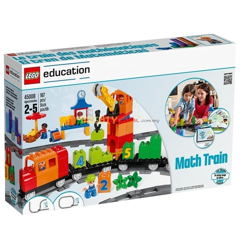 LEGO Education: Математический поезд Duplo 45008 — Math Train for Count and Basic Addition and Subtraction — Лего Дупло Эдукейшн Образование