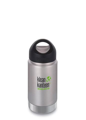 #Термобутылка Klean Kanteen Insulated Wide Loop Cap 355мл Brushed Stainless