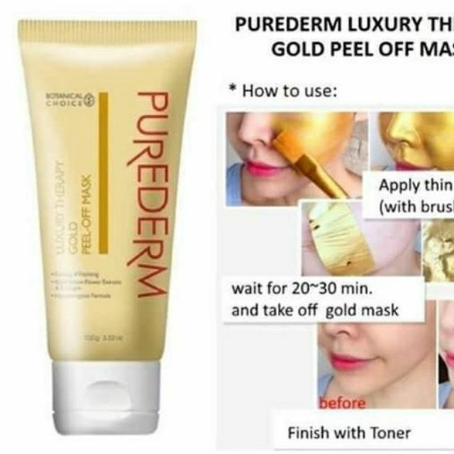 Маска пленка для лица с биозолотом PUREDERM Peel Off Mask 100g