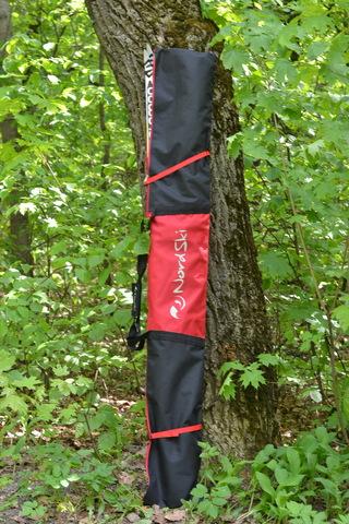 Чехол для беговых лыж Nordski 195см 3 пары Black/Red