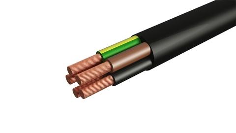 Провод ПВС 5х6 ГОСТ (30м), черный TDM