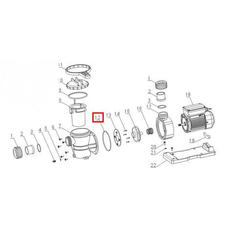 Уплотнительное кольцо корпуса для насоса Aquaviva VWS\STP 150-300 / 17311