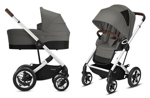 Детская коляска Cybex Talos S Lux 2 в 1 SLV Soho Grey