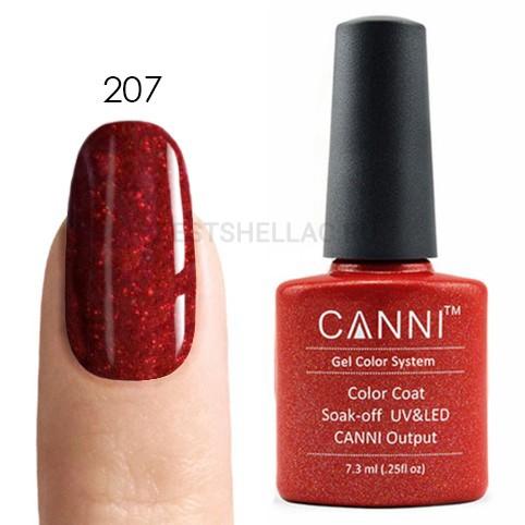 Canni Canni, Гель-лак № 207, 7,3 мл 207.jpg