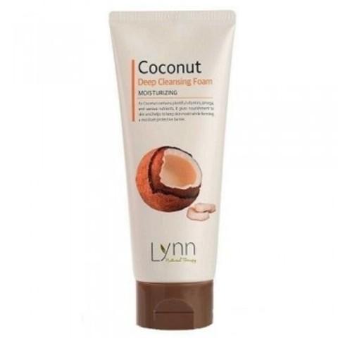 Welcos Natural Therapy Lynn Coconut Deep Cleansing Foam пенка очищающая кокосовая для любого типа кожи