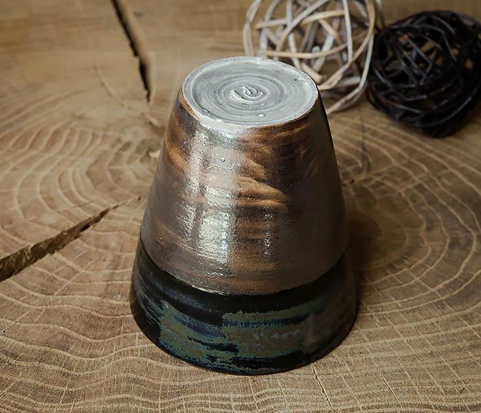 CUP105-2 Крупный керамический стакан ручной работы фото 06