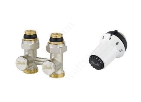 Комплект: узел нижнего подключения RLV-KS прямой + термоголовка RTR-CK, M30 x 1.5