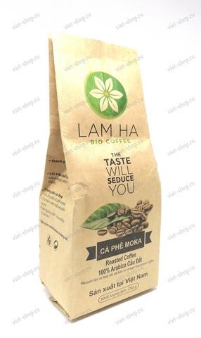 Вьетнамский молотый кофе Lam Ha Bio Coffee, Арабика Мока, 250 гр.