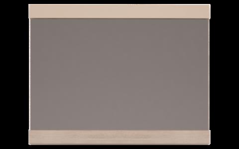 Зеркало настенное Вива 7 Ижмебель невис/капучино глянцевый