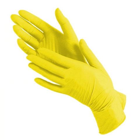 Перчатки нитрил MDC (TN382M) M-size желтого цвета 100 пар/уп